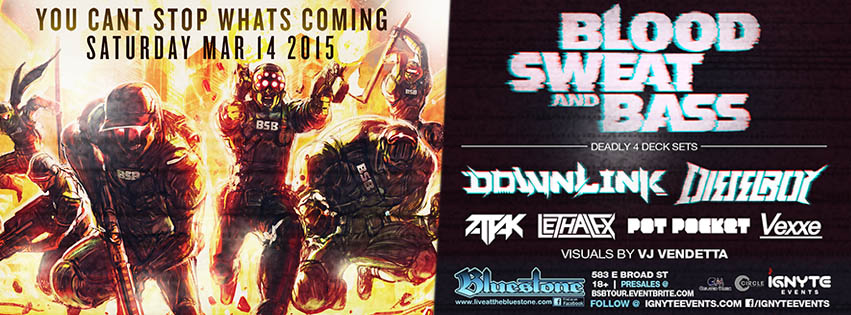 Blood Sweat & Bass Tour featuring DOWNLINK and DIESELBOY - The Bluestone