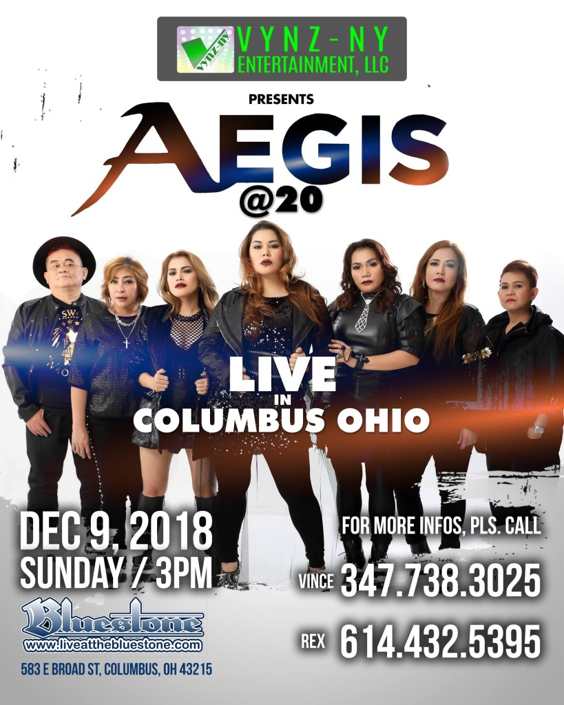 AEGIS @20 Presented by VYNZ-NY Entertainment LIVE @ The Bluestone | Columbus | Ohio | United States