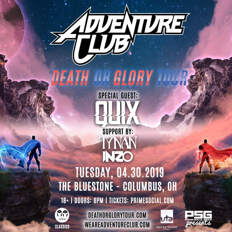 Prime Social Presents: Adventure Club @ The Bluestone