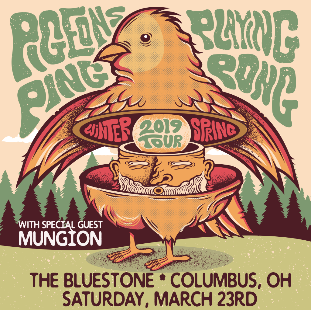 Pigeons Playing Ping Pong featuring Special Guest Mungion @ The Bluestone
