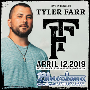 Tyler Farr LIVE in Columbus, Ohio April 12th @ The Bluestone