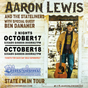 Aaron Lewis LIVE Oct 18th @ The Bluestone