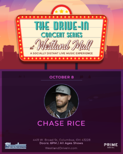 Chase Rice Live at Westland Mall Drive In @ Westland Mall Drive-In